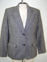 JG Hook 10 Medium Womens Size Gray Black Red Long Sleeve Button Front Blazer