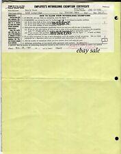 DAVID ROSE Signed AUTOGRAPH BoNaNzA Document 1961 Little House on the Prairie TV