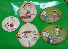 The Peanuts Gang Wall Hangings, Charlie Brown, Linus, Schroeder, Sally, Snoopy