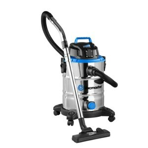Vacmaster 30ltr Stainless Steel Tank Wet/Dry Vacuum 1500W + 10pce Accessory Kit