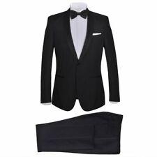 vidaXL Smoking Tweedelig Mannen Maat 52 Zwart Heren Pak Kostuum Jas Black Tie