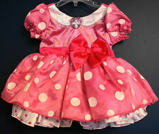New Disney Store MINNIE MOUSE Pink Heart Costume Dress Infant 12-18 Months