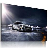 MERCEDES SLS GRAPHITE SUPER Sports Car Wall Art Canvas Picture AU673 MATAGA