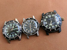 Lot of 3 Vintage Sears,Sheffield & Sovereign Divers Watches FOR PARTS OR REPAIR