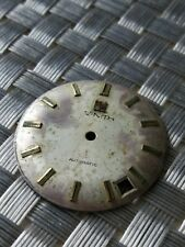 vintage used Zenith watch dial for automatic movement for parts
