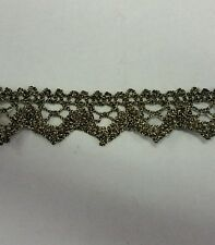Old looking ,metallic ribbon lace trim ,1/2 inch  wide for lamp shade