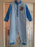BOY KIDS TODDLER BLUE THOMAS THE TANK ENGINE FLEECE ONESIE ALL IN ONE PYJAMA