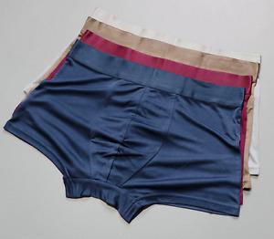 3 PACK 100% Mulberry Silk Men's Underwear Boxer Briefs Size L XL 2XL 3XL SG104
