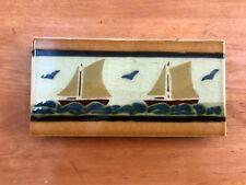 Jugendstil Fliese Kachel Antik 15,3 x 7,7 cm