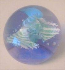 Miniature Caithness Glass Paperweight Alexandrite Neodymium Glass 5 cm diameter