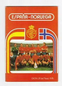 1978 SPAIN v NORWAY (Friendly)