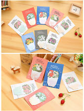 """2X """" Plant / Flower """" Self Adesive Paper Tape / Sticky Note / Memo / Writing Pad"""