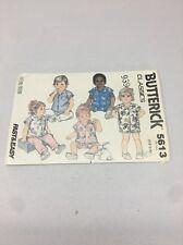 5613 Vintage Butterick Infant's Shirt Pants And Shorts