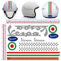 Vespa argento adesivi casco italia flag sticker helmet cropped 11 pz.