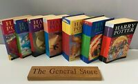 Harry Potter Complete 7 Bloomsbury Book Set - 1st and 2nd Edition - 5 Paperbacks