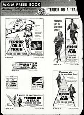 TERROR ON A TRAIN pressbook, Glenn Ford, Anne Vernon, RARE