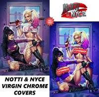 SOLD OUT: NOTTI & NYCE - HARLEY QUINN & PUNCHLINE - EXCLUSIVE VIRGIN CHROME SET
