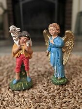 Vintage Nativity Shepherd and Angel Made in ITALY
