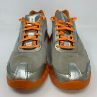 Reebok Mens Zig Pulse Running Shoes Silver J19541 Lace Up Mid Top Breathable 11