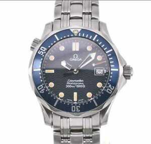 OMEGA Seamaster 300 2561.80 Stainless Steel Blue Dial Quartz Boy's Watch