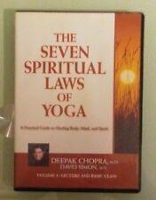 deepak chopra / david simon THE SEVEN SPIRITUAL LAWS OF YOGA volume 1  DVD