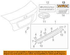 SUBARU OEM 15-16 WRX Trunk Lid-Emblem Badge Nameplate 93079VA030