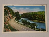 Vintage Postcard - Riverside Country Winding Road Maine ME Unposted #738