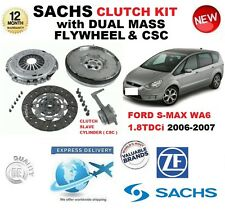 FOR FORD S MAX WA6 1.8 TDCi SACHS CLUTCH KIT 2006-2007 w FLYWHEEL CS CYL BOLTS