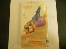 Living Arts Balance Ball Lower Body Workout Firm Tone Lengthen (VHS 2002) NEW