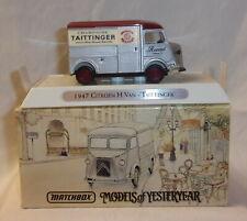 MJ7 Matchbox - Collectibles - YTF05 - 1947 Citroen 'H' Van - Silver - Taittinger