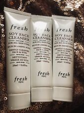 Fresh Soy Face Cleanser 3 Tubes 1.8 Oz. Total New Each .6 Oz.