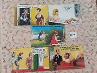 Lot of 5 Funny Novelty Risque ADULT Unused Bamforth Postcards #19