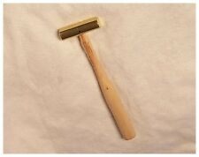 Bearcat No.Bh-9 Small Brass Hammer, 13 oz. Wooden Handled, Gunsmith or Jewelry
