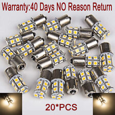 20X 5050 Warm WHITE 13 SMD LED BULB 1156 1003 1141 RV TRAILER INTERIOR LIGHT 12V
