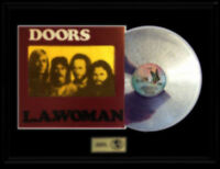 THE DOORS JIM MORRISON GOLD RECORD PLATINUM  DISC ALBUM RARE LA WOMAN ORIGINAL