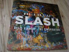 SLASH - WORLD ON FIRE LP vinyl BLUE / YELLOW