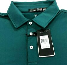 Ralph Lauren RLX Wicking Polyester Golf Polo Solid GreenMen Size Large