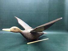 Flying Mallard Duck Female Hen Wooden Decoy Weathervane Hand Carved~ Cape Cod