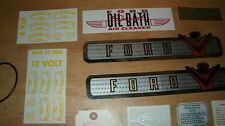 1955 FORD TRUCK F-100 F-150 F250 F350 V8 DECAL RESTORATION TAG KIT NEW W 15PCS