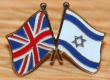 UK & ISRAEL Israeli FRIENDSHIP Flag Metal Lapel Pin Badge Great Britain