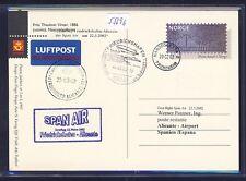 55696) SPAN AIR FF Friedrichshafen - Alicante Spanien 22.3.02, ab Norwegen