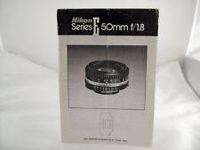 Nikon Ais 50Mm F1.8 E Camera Lens Instructions