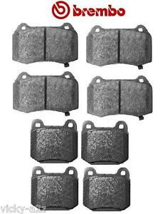 FOR NISSAN 350Z 3.5 2003 >> BREMBO FRONT & REAR BRAKE PADS FITS BREMBO CALIPER
