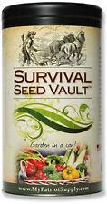 Survival Seed Vault - Non-GMO Heirloom Emergency Survival Seeds - 20 Varieties