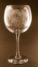 Etched Black Labrador Retriever on Elegant Wine Glasses (Set of 2)