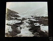Glass Magic lantern slide UNKNOWN LOCATION 16 NORWAY - PEOPLE NEAR A STREAM
