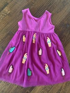 Hanna Andersson 120 (size 6-7) Girls Purple Ice Cream / Popsicle Dress NWT