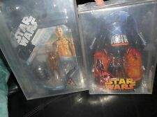 2 LOT AFA U80 DARTH VADER STAR WARS MCQUARRIE CONCEPT Celebration R2D2 C3PO U90