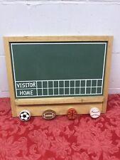 Sports Chalk Score Board  SHELF & COAT HANGER Chalk Rail Child's Room