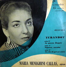 EP MARIA MENEGHINI CALLAS PUCCINI TURANDOT  ITALY 1955 IN QUESTA REGGIA +2